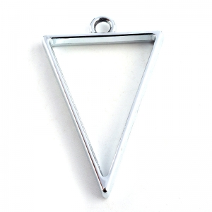 Metalen Open Back Hanger Driehoek 39x25x3,5mm Platinakleur