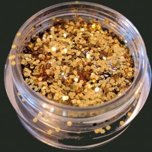 Glitter - Goudkleur (+/- 3 gram Rond 1mm)