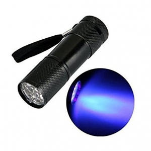 UV Zaklamp - Zwart (9 watt)